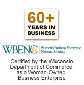 Certified by the Wisconsin Department of Commerce as a Woman-Owned Business Enterprise